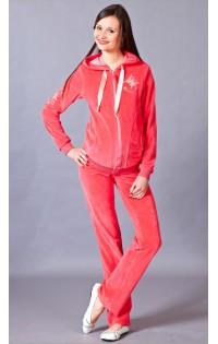 Спортивный костюм велюр - арт. 001 коралл