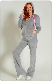 Спортивный костюм велюр - арт. 001 серый