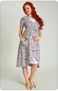 Комплект (халат и сорочка) -  арт. 013 розовый