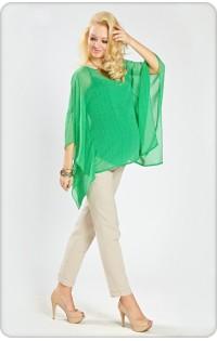 Блуза  - арт 426.4 треугольник зеленый