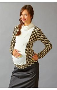 Блуза - арт. 484 - коричневый