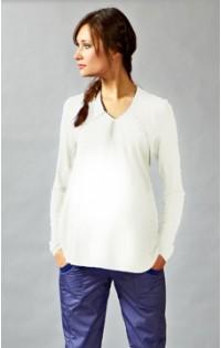 Блуза утепленная - арт. 486 - экрю