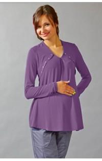 Блуза утепленная - арт. 486 - пурпур