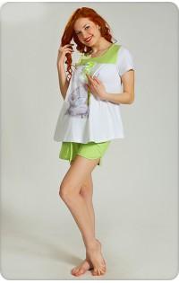 Пижама -  арт. D009 белый-салатовый