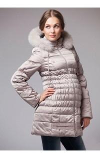 Куртка - пальто (зима)  - арт. М-900022 - св.бежевый