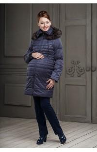Пальто зимнее арт.  Вичен - фиолетовый
