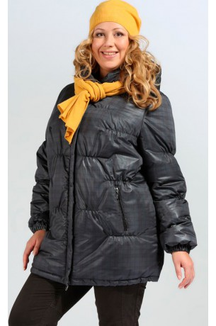 """Куртка """"Виола"""" (зима) - большие размеры (черная)"""