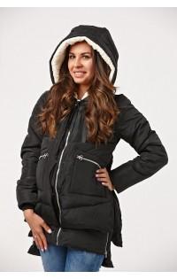 Куртка Бомбер черная (зима)