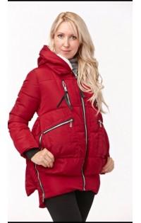 Куртка Бомбер красный (зима)