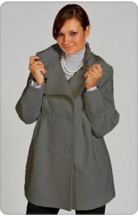 Пальто - арт. 115 серый (осень-весна)