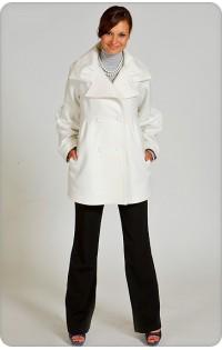 Пальто - арт. 115 белый  (осень-весна)