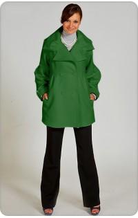 Пальто - арт. 115 зелёный  (осень-весна)