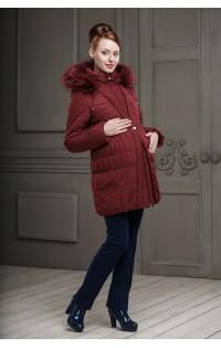 Пальто (зима) - арт. Клерис - винный