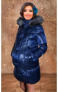 "Куртка - пальто  ""Ирина"" синий (зима)."