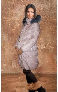 """Куртка - пальто  """"Натали"""" персик (зима). Распродажа!!!"""