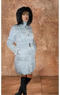 "Куртка - пальто  ""Натали"" серебристо - серый (зима)"