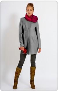 Пальто (весна - осень) - арт. 966 серый