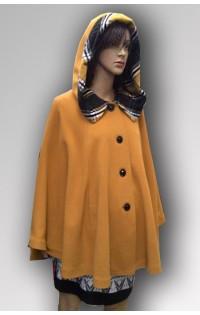 Пальто - пончо желтое