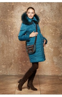 Пальто зимнее - арт.  Вичен - бирюза