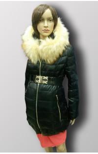 Зимнее пальто - арт. 13А-26 экокожа + натур.мех