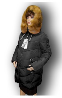 Зимнее пальто - арт. 21-S6 черная