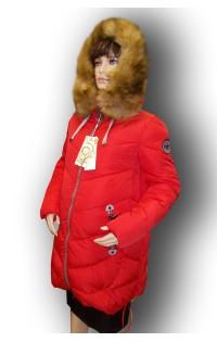 Зимнее пальто - арт. 21-S6 красная