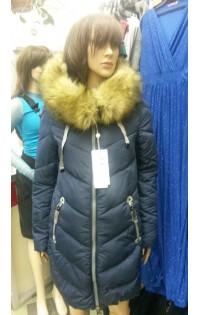 Зимнее пальто - арт. 21-S6 т.синяя