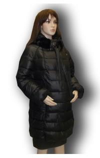 Зимнее пальто - арт. 18-821- черная