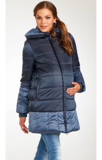Пальто Бисан синяя дымка
