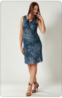 Платье - арт. 634 морская волна