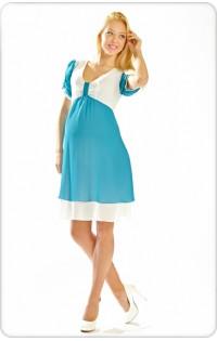 Платье арт. 657 аквамарин-молоко