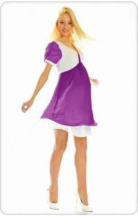 Платье арт. 657 фиолетовый-молоко