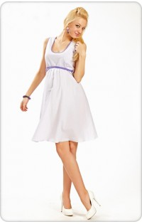 Платье арт. 673.3 полоска фиолет.-сирень