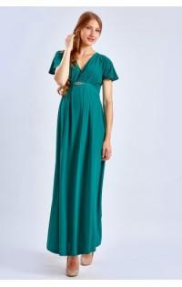 Платье длинное - 674 т.зеленое