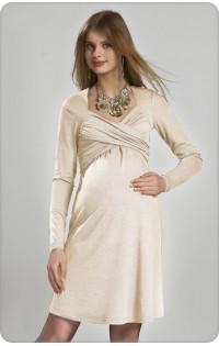 Платье для беременных  и кормления - арт. 630 экрю