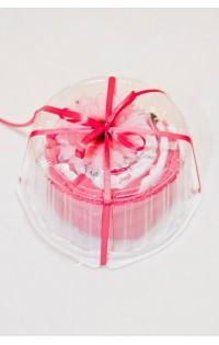 Подарочный набор на выписку Торт № 2 диаметр 240 мм розовый