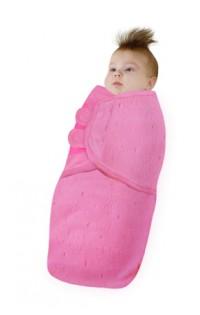 Пеленка на липучках.Розовый с мишками-флис.