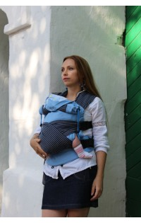 "Эргономичный рюкзак арт. ""Голубой агат"" комфорт с накладками"