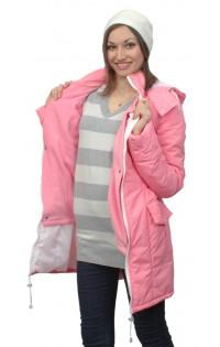Слингокуртка - трансформер 4 в 1 (демисезонная и ветровка) розовая