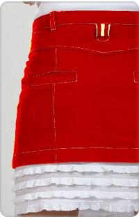Юбка - арт. 238 красный